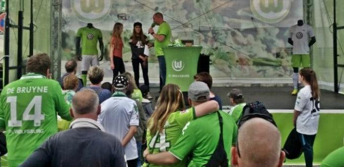 Saisonfinale auf der VFL-Fanmeile in Wolfsburg
